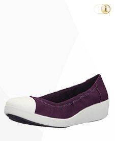 FitFlop F-Pop Canvas Ballerina Schuhe, violett.