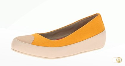 Fitflop Due Canvas Ballerinaschuhe in gelb.