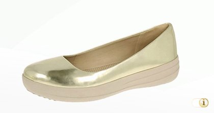 "Fitflop ""F-Sporty"" Ballerinaschuhe in Goldfarbe."