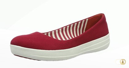 "Fitflop ""F-Sporty"" Canvas Ballerinaschuhe in rot."