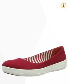 FitFlop F-Sporty Ballerina Schuhe, rot.