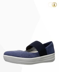 Fitflop Ballerinas Mary Jane,Canvas, blau.