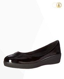 FitFlop Superballerina Schuhe, schwarz.