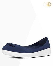 FitFlop Superballerina Schuhe,blau, Quaste, Wildleder.