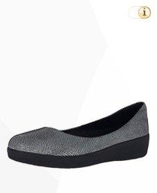 FitFlop Superballerina Schuhe,Snake, schwarz/weiß.