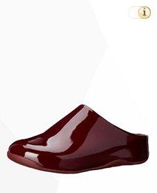 FitFlop Shuv Patent Clog, Bordeauxrot.