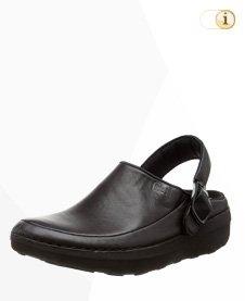 Schwarze Fitflop Schuhe Damen, Gogh Pro Superlight Clog, schwarz.