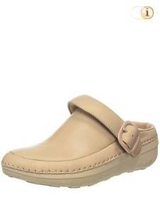 Beige FitFlop Schuh für Damen. Superleichte Clogs, Beige.