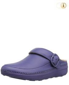 Blauer FitFlop Schuh für Damen. Superleichte Clogs, blau.