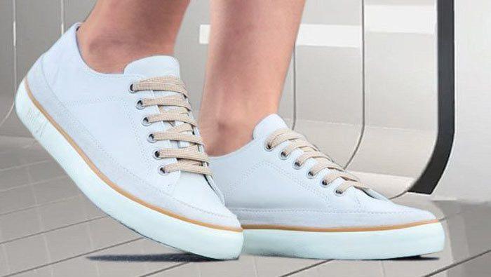 Weiße Fitflop Schuhe für Damen, Damen-Sneaker, weiß.