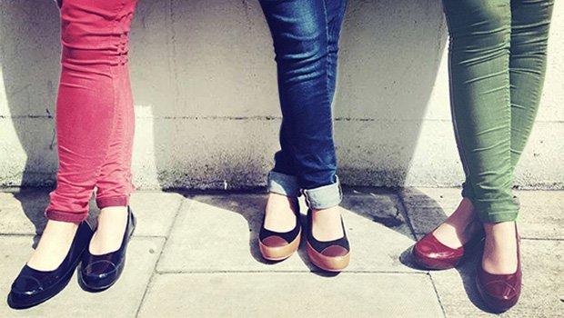 FitFlop 2017, Ballerina, Schuhe, schwarz, rot.