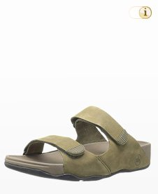 Fitflop Gogh Slide Adjustable, Herren Sandale, oliv.