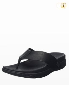 FitFlop Herren Surfer Perf Leather Sandalen, schwarz.