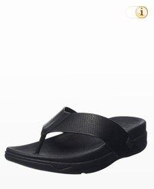 FitFlop Herren Surfer Perf Leather Sandalen, schwarz.