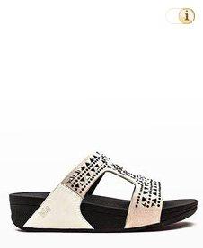 """FitFlop """"Carmel"""" Slide Sandale, beige."""