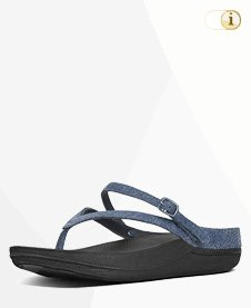 Flip Sandalen mit Fersenriemen, blau.