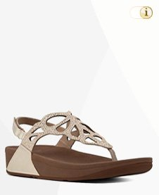 BUMBLE CRYSTAL TOE-THONG SANDALE, oro.