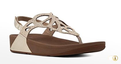 Fitflop BUMBLE Crystal Toe-Thong Sandale im Farbton: Oro.