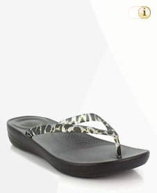 Iqushion Super-Ergonomic Flip Flop, schwarz.