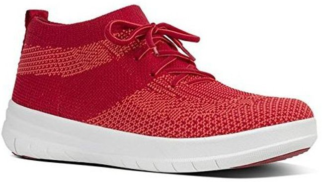 FitFlop 2017, UBERKNIT SLIP-ON HI TOP Schuh, rot.