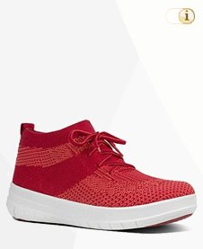 FITFLOP UBERKNIT SLIP-ON HI TOP Schuh, classic red.