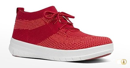 FitFlop 2017, UBERKNIT SLIP-ON HI TOP Schuh, classic red.