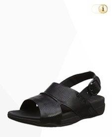 FitFlop Herren Bando Leder Sandale, schwarz.