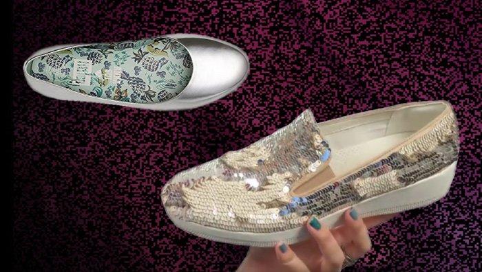 FitFlop 2017, Schuhe, Ballerina, silber.