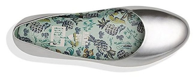 Fitflop Anna Sui Superballerina Schuhe in Silber.