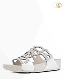 FitFlop BUMBLE Crystal Toe-Thong Sandale,silber.