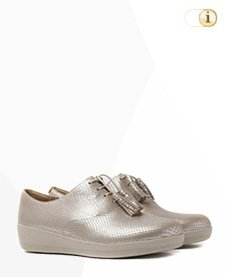 FitFlop Classic Tassel Superoxford Schuh, silber.