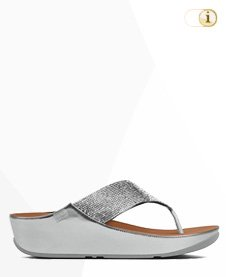 FitFlop Crystall Sandalen, silber.