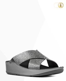FITFLOP CRYSTALL PANTOLETTEN, silber.