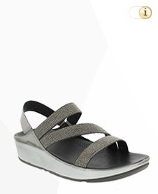 Fitflop Crystall Z-Strap, silber.