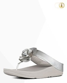 FitFlop Florrie Toe Post Sandale, Silber.
