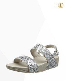 FitFlop Damen Glitterball Sandale, silber.