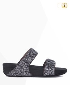 FITFLOP Sandale Crystall mit Strass, silber.
