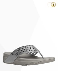 "Fitflop ""Lattice Surfa"" Sandale, silber."