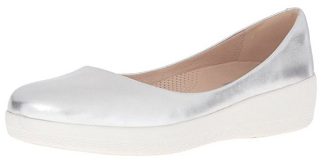 Fitflop Superballerina Schuhe in silber.