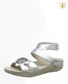 FitFlop Luna Pop Gladiator Sandale, silber.