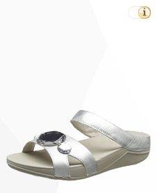 FitFlop Pop Slide Sandale, silber.