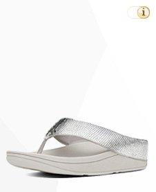 """Fitflop """"Ringer"""" Pailletten Sandale in Silber"""
