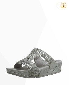 Fitflop Rokkit Slide Sandale, silber.