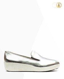 Fitflop Schuhe F-Pop Skate Schuh, silber.
