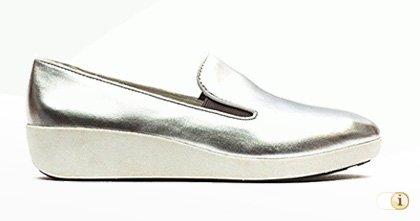 "Fitflop ""F-Pop Skate"" Schuh in Silber."
