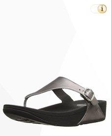 FitFlop Skinny Tm Zehensteg Sandale, silber.