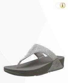 FitFlop Slinky Rokkit T-Strap Sandale, silber.