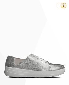 FITFLOP SPORTY LACE UP Schuh, silber.
