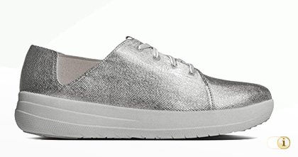 Fitflop Sporty Lace Up Sneaker,silber.