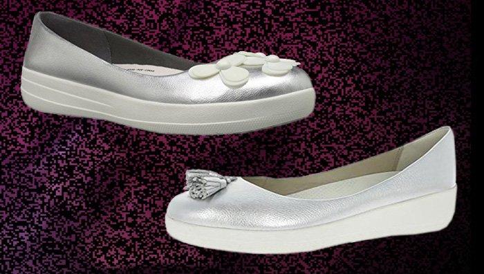 Fitflop Superballerina Schuhe, Silber.